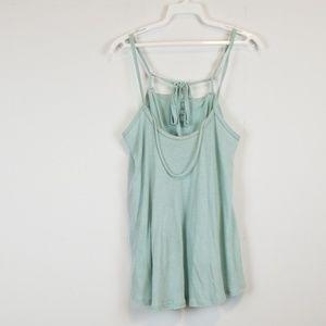 Free People blue strappy tank top size small